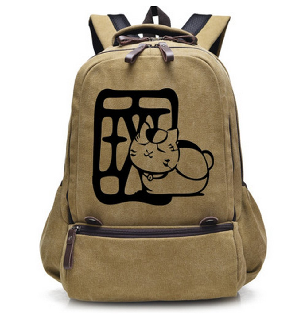 Anime Natsume Yuujinchou Cat Teacher Canvas Backpack Travel Bag