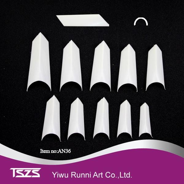 stiletto punkt form acryl franz sisch falsche uv gel nagelspitzen wei nat rliche farbe spitzen. Black Bedroom Furniture Sets. Home Design Ideas
