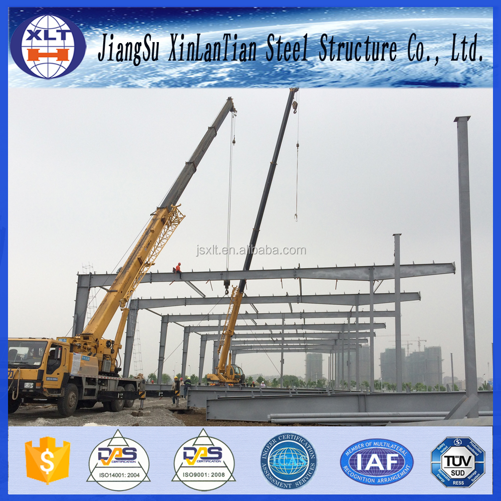Environmental prefab clear span fabric steel warehouse building