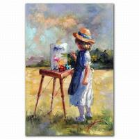 decorative wall panel kids canvas oil painting set for kids room