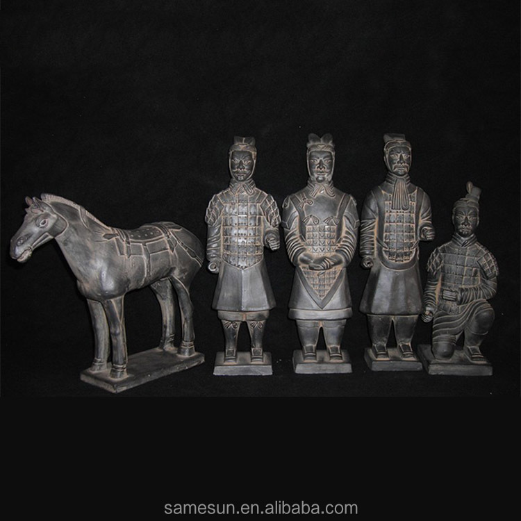 2016 25cm terracotta warriors souvenir five set