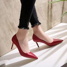 zm31711a latest model casual high heel shoes office ladies elegant pointed shoes