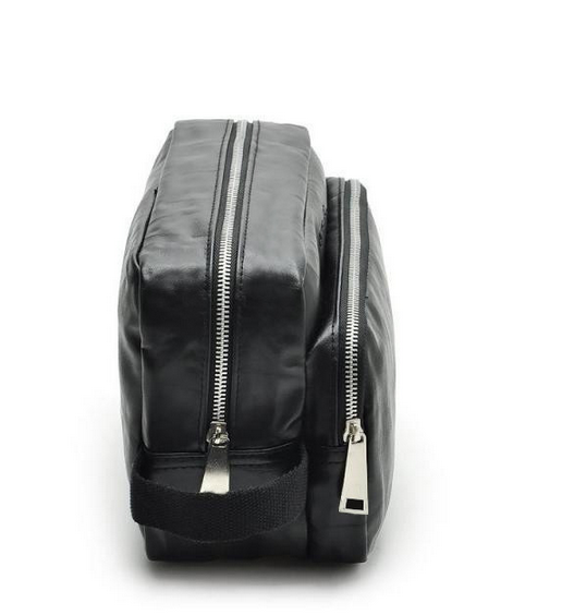 pu men metal toiletry bag with compartments