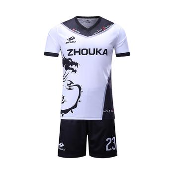 fb12b4184b7 Thai quality cheap football uniforms customization soccer jersey ...
