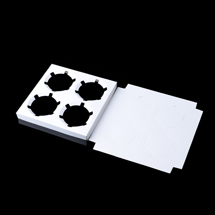 Cheap price four grids muffin box/paper cake box/cup cake box/cake box packaging#H201