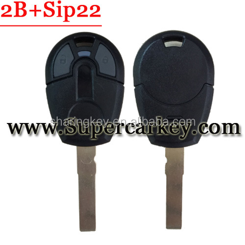 High Quality 2 Button Remote Key Sip22 Blade Shell For Fiat New type GT15