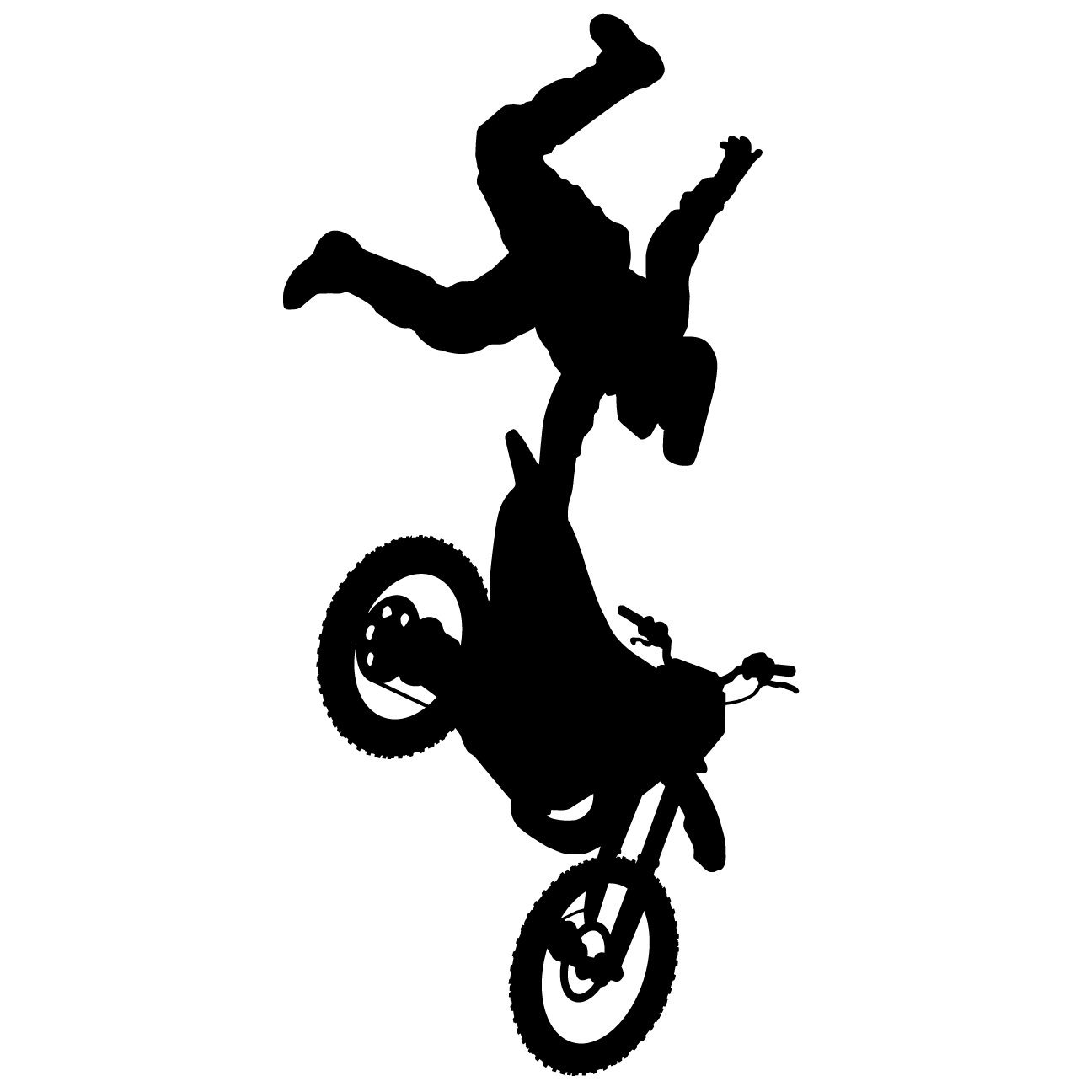 Get quotations · motocross wall decal sticker 5 decal stickers and mural for kids boys girls room and
