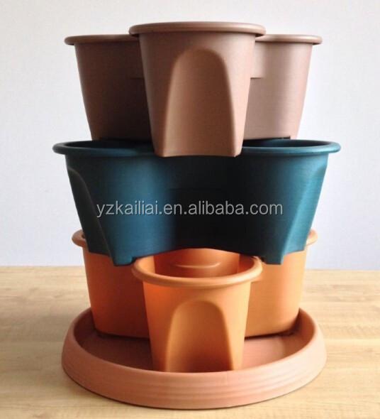 Empilable pots en plastique pots de fleurs jardin pots - Pot en plastique jardin ...