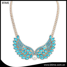 Fashionable popular wing beads with vintage fashion necklace
