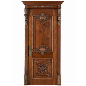 Modern Main project used Door Wood Carving Design, Solid Wood Door