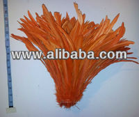 "Orange rooster coque tail feathers 10""-12"" 1/4 pound"