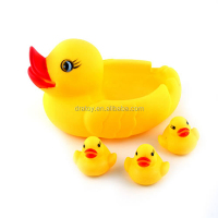 Non-toxic baby cute vinyl small yellow duck bath toy set