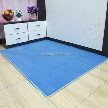 Shaggy Area Waterproof Absorbent Bath Rug Without Rubber Backing