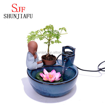 Tabletop Decoration Small Ceramic Indoor Water Fountain