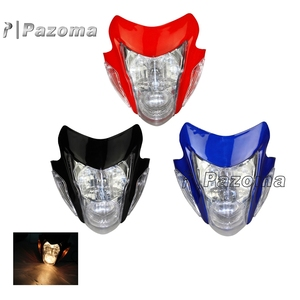 Motorbike Streetfighter Nake Red Sonic Style Street Fighter Headlight Head Lamp For All Dirt Sport Motorcycle