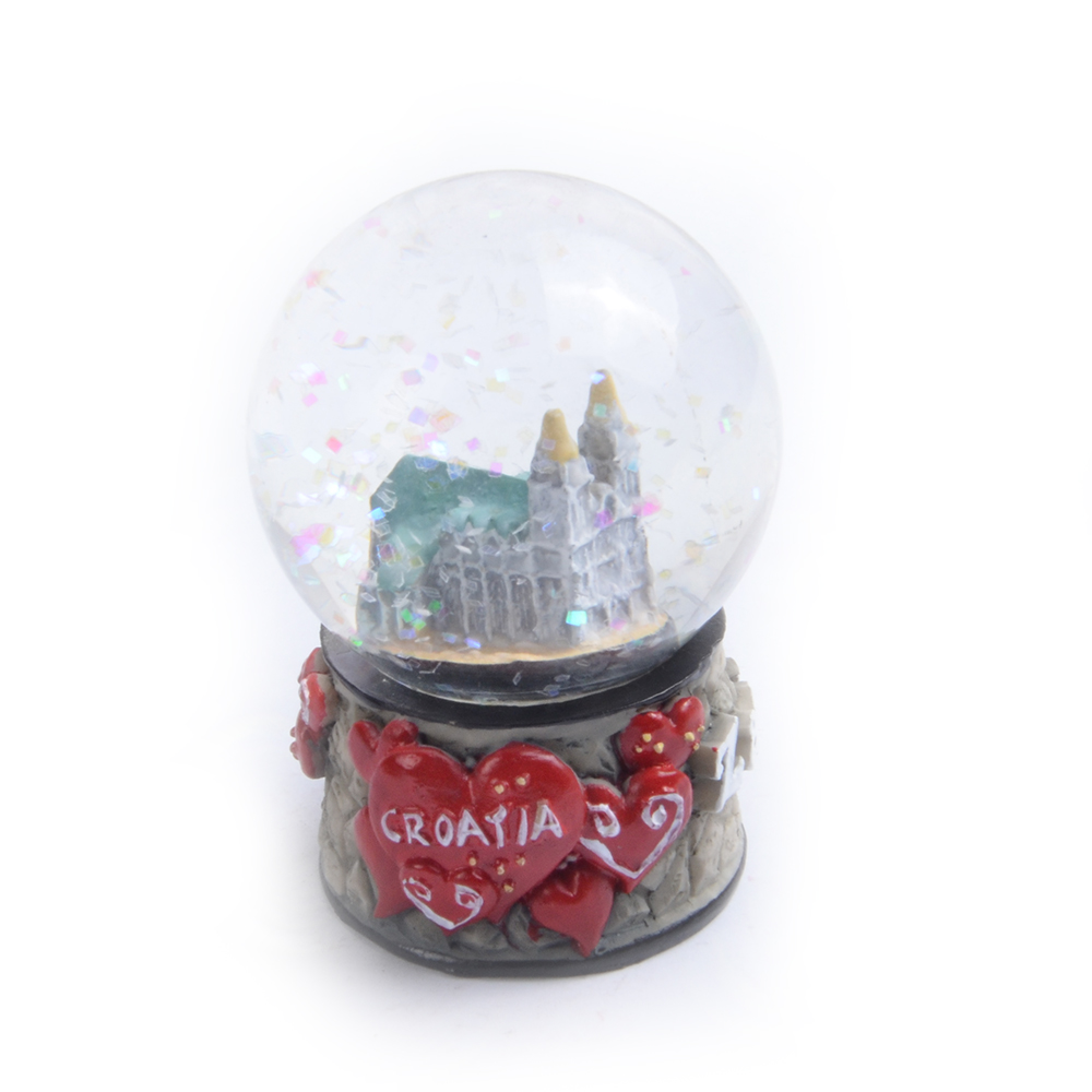 Croatia Unique Gift Ideas Souvenir Snow Globe With Blowing Snow