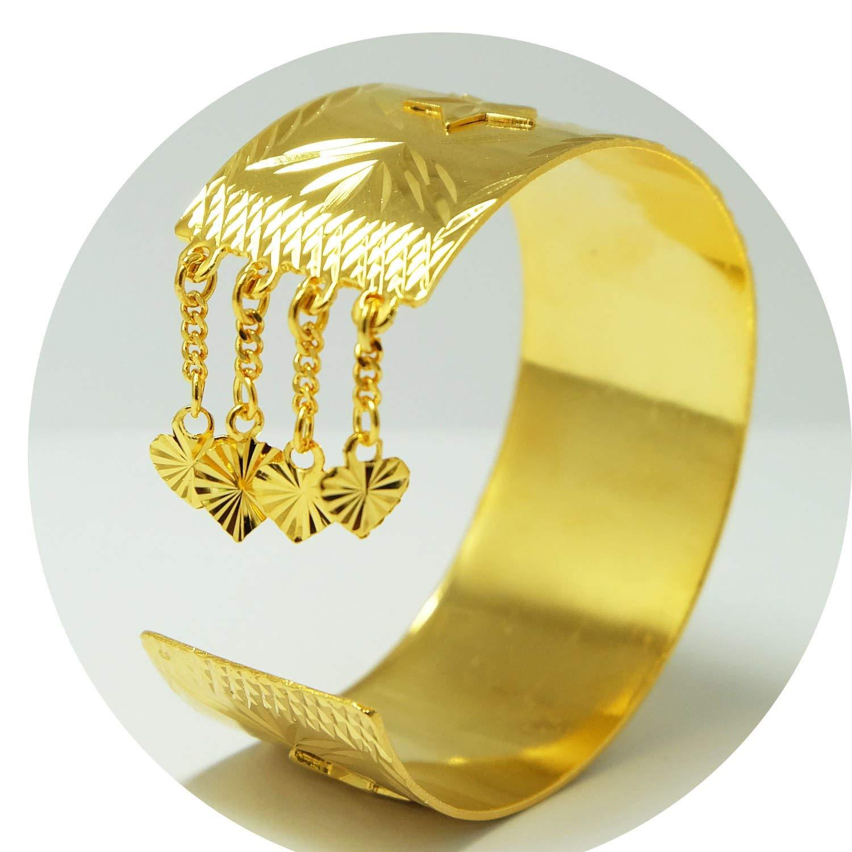 22k 23k 24k Thai Baht Yellow Gold Plated Filled Jewelry Bangle Bracelet