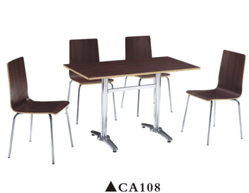 Modern Compact Dining Set Food Court Serving Chairs Tables CA108