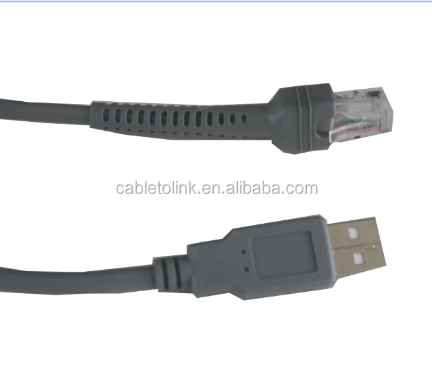 USB Straight Cable for Symbol Bar Code Scanner LS DS
