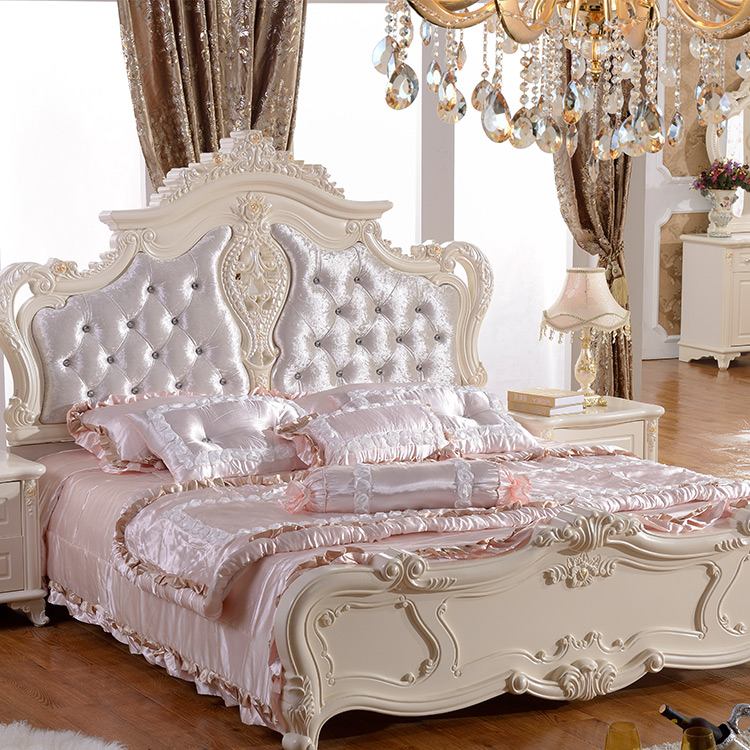 Wholesale Queen Size High Bed Frames Cheap Double King Size Bed