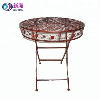 De Jardin En Fer Pliant Café Table Antique Petite Table Ronde - Buy Antique  Petite Table Ronde,Fer Table Pliante,Table Ronde Fer Product on ...