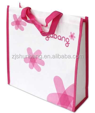 Customised Logo Handled Style and Non-woven Material PP non woven bag for promotion and shopping