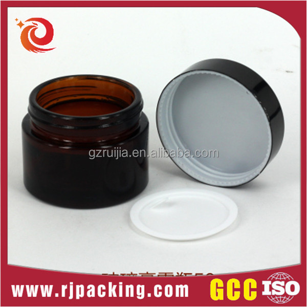 Online shop custom cheap empty 30g 50g glass jar for cream cosmetic packaging