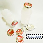 Yogurt milk bottle of aluminum foil seal cap for PET/PE/PP/PS bottles