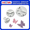 3 Pcs Veined Butterfly Cake Mold Sugarcraft Fondant Cookie Plunger Cutters Decorating Kit