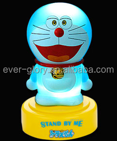 Customize Doraemon Figure LED lighting Figure Plastic AS Figure