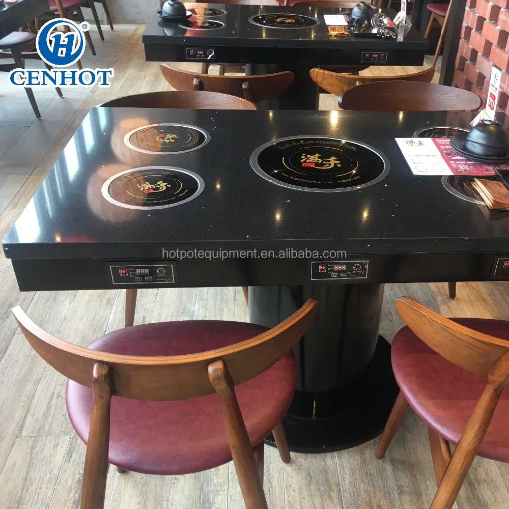 Professional Singapore Large Hot Pot Tables And Chairs