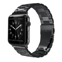 strap for Apple Watch band, Watch band Stainless Steel Strap Wrist Bands Replacement with Durable Folding Metal Clasp