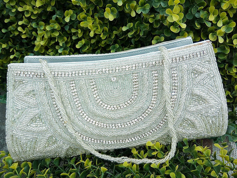 Womens evening clutch, Hand crafted minaudiere, Exclusive jewel clutch, Portefeuille Femmes, rhinestones beaded bridal clutch, Indian sequin handbag
