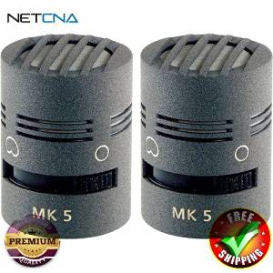 MK 5 Microphone Capsule (Matched Pair, Matte Gray) With Free 6 Feet NETCNA HDMI Cable - BY NETCNA