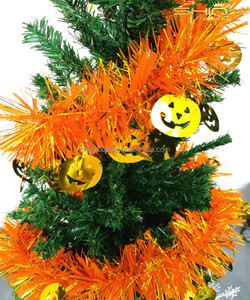 Hot Sale New Products Yellow Christmas Wired Tinsel Garland, Outdoor Party Tinsel Garland