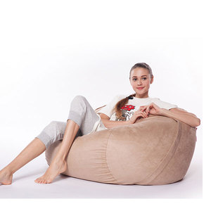 Wholesale Microsuede cover with shredded foam filling large foam bean bag