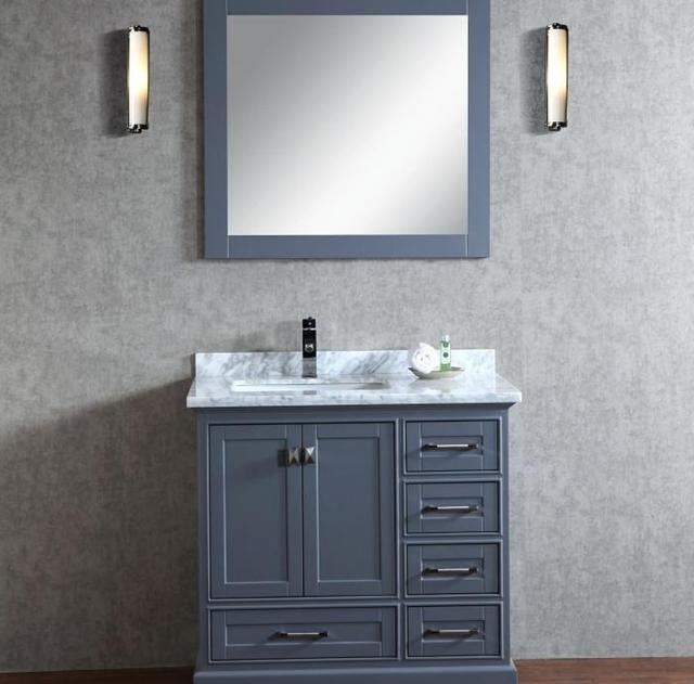 Cheap Modern Furniture For Small Bathroom White Bathroom Vanity Unit Italian  Bathroom Vanity(PR