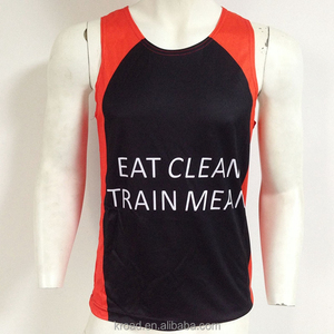 Wholesale custom made gym singlet sublimation mens gym tank top
