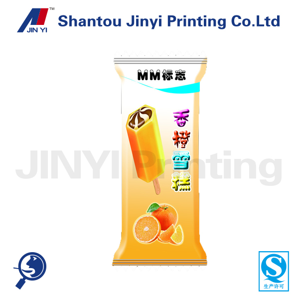 Stand up ice cream/lolly packaging plastic printing bag