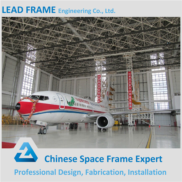 hot dip galvanization light steel hangar space frame structure for aircraft hangar