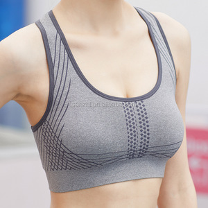 Women Padded Bra Top Athletic Vest Gym Fitness Sports Yoga Stretch Push up Sports Bra with Removable Pads