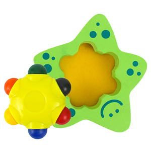 Private Label 6 Colors with Star Bath Sponge Washable Kid Draw Bath Crayons