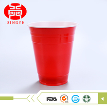 PS material disposable double color red festival cups with logo printing available