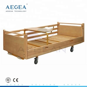 AG-BYS113 two cranks patient recovery healthcare wooden hospital bed prices