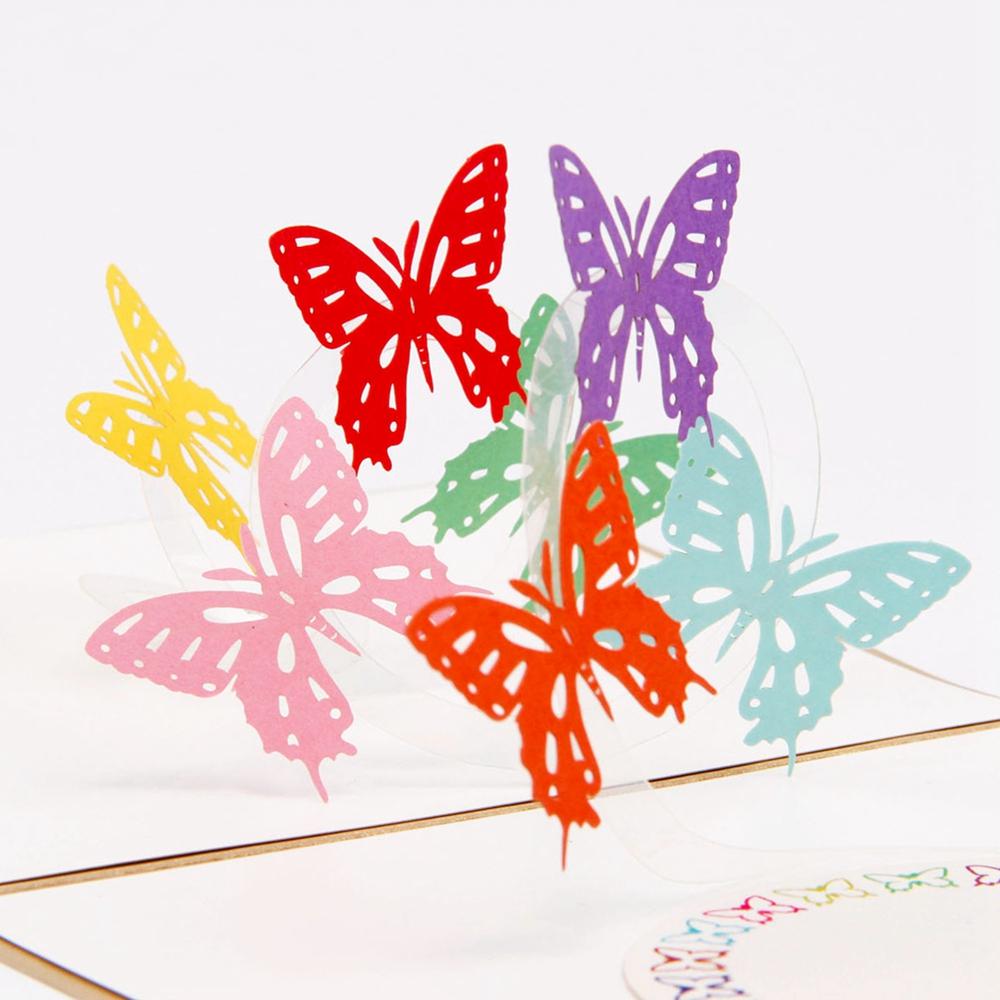 Открытка поп ап бабочки