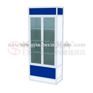 portable aluminum profiles of glass display showcase