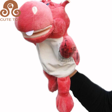 OEM hippo finger ventriloquist puppet cartoon hand puppets baby kids pretend plush hand for sale