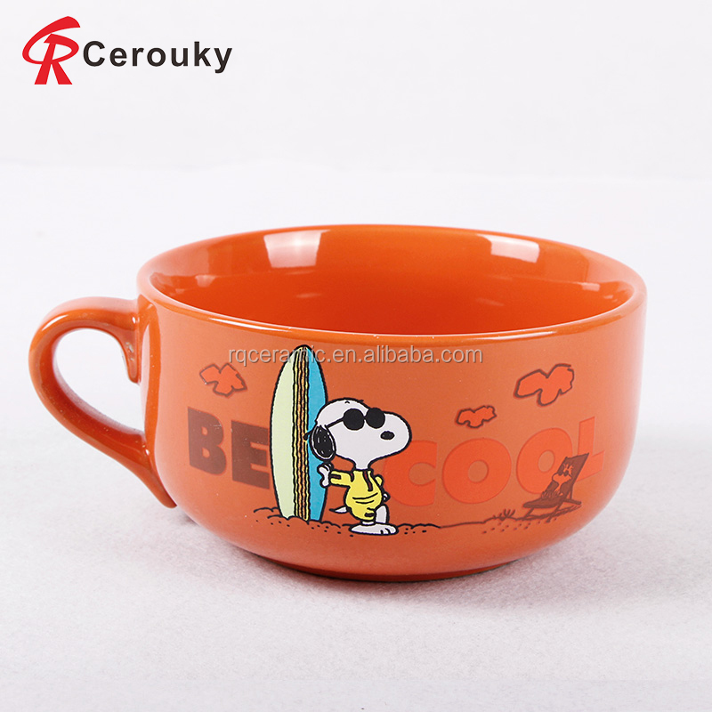 Factory sale snoopy heat sensitive coffee mug color changing mug