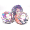 Hot sale VOGRACE new cheap OEM custom cartoon anime hologram tinplate button pins,wholesale colorful round holographic badges