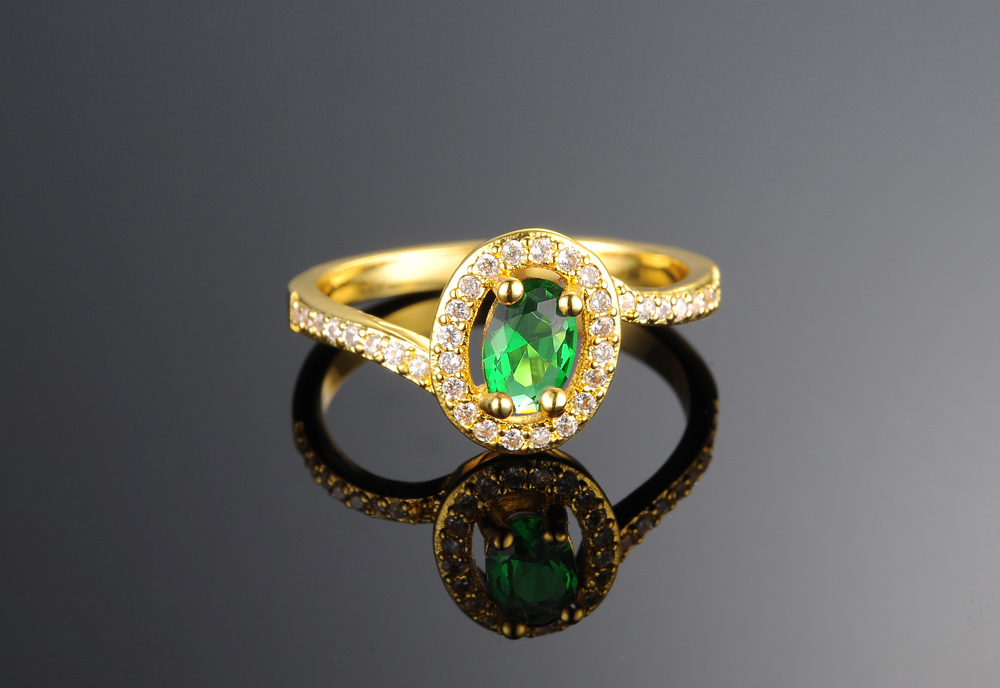 2015 Latest Design With Charm Green Stone Turkish Gold Rings Buy